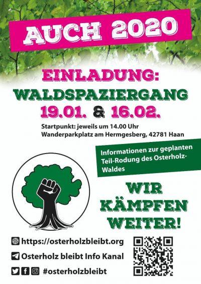 Osterholz bleibt! @ Wanderparkplatz Hermgesberg | Haan | Nordrhein-Westfalen | Deutschland