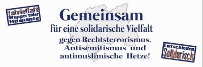 Demo: Gemeinsam für eine solidarische Vielfalt. @ Bahnhofsvorplatz Döppersberg | Wuppertal | Nordrhein-Westfalen | Deutschland