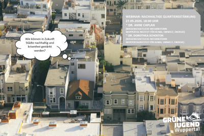 Webinar: Nachhaltige Quartiersentwicklung
