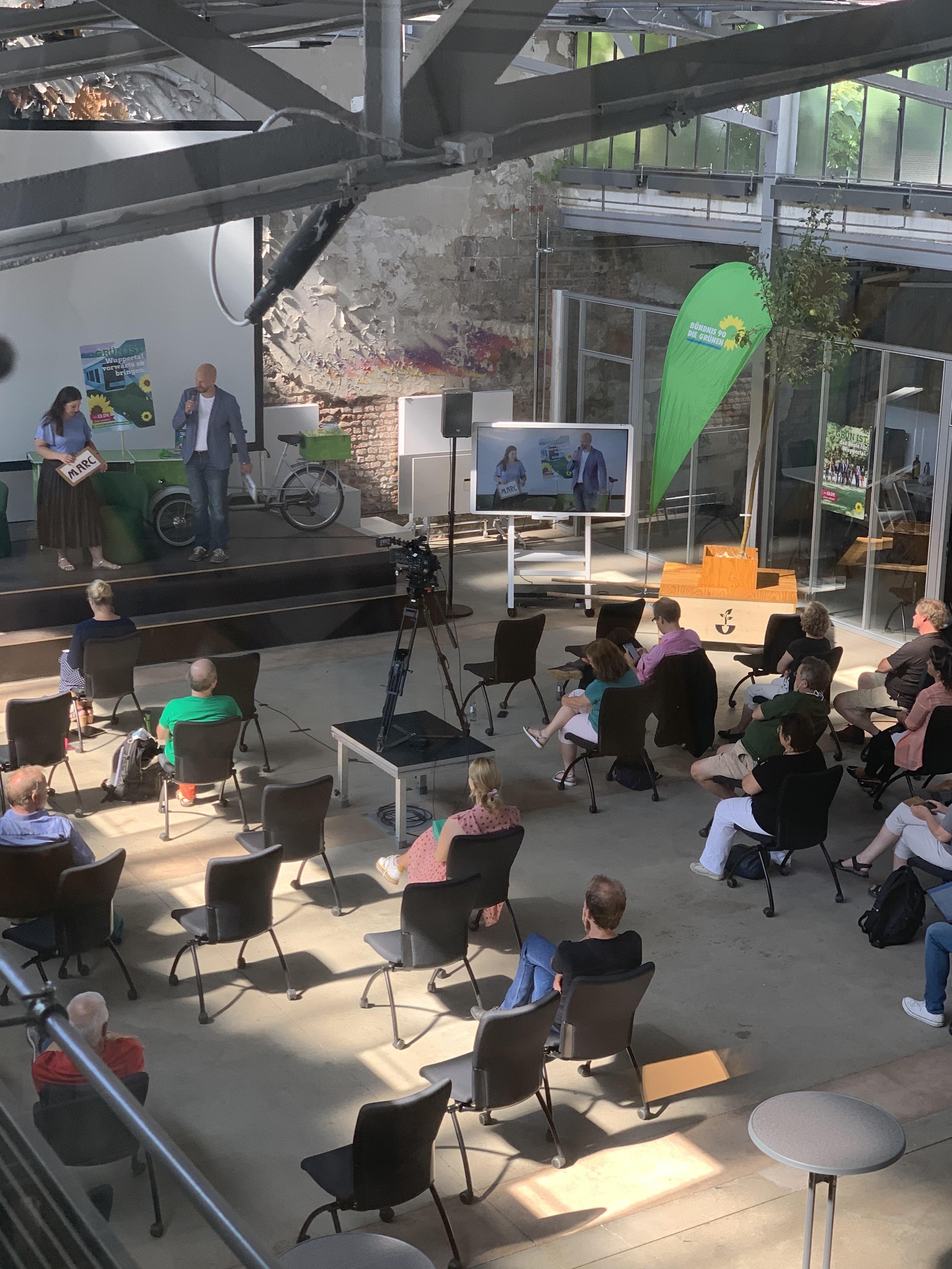 Digital-grüner Wahlkampfauftakt in Wuppertal