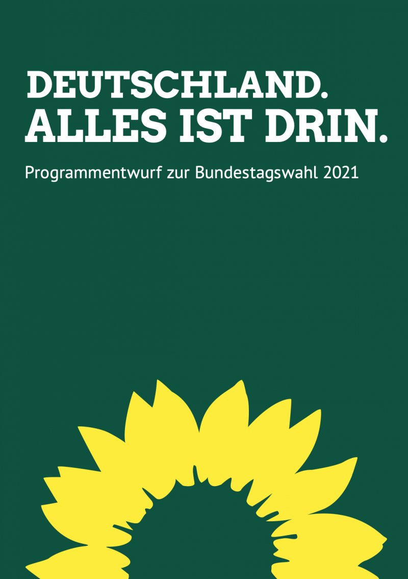 grüne Bundestagswahlprogramm