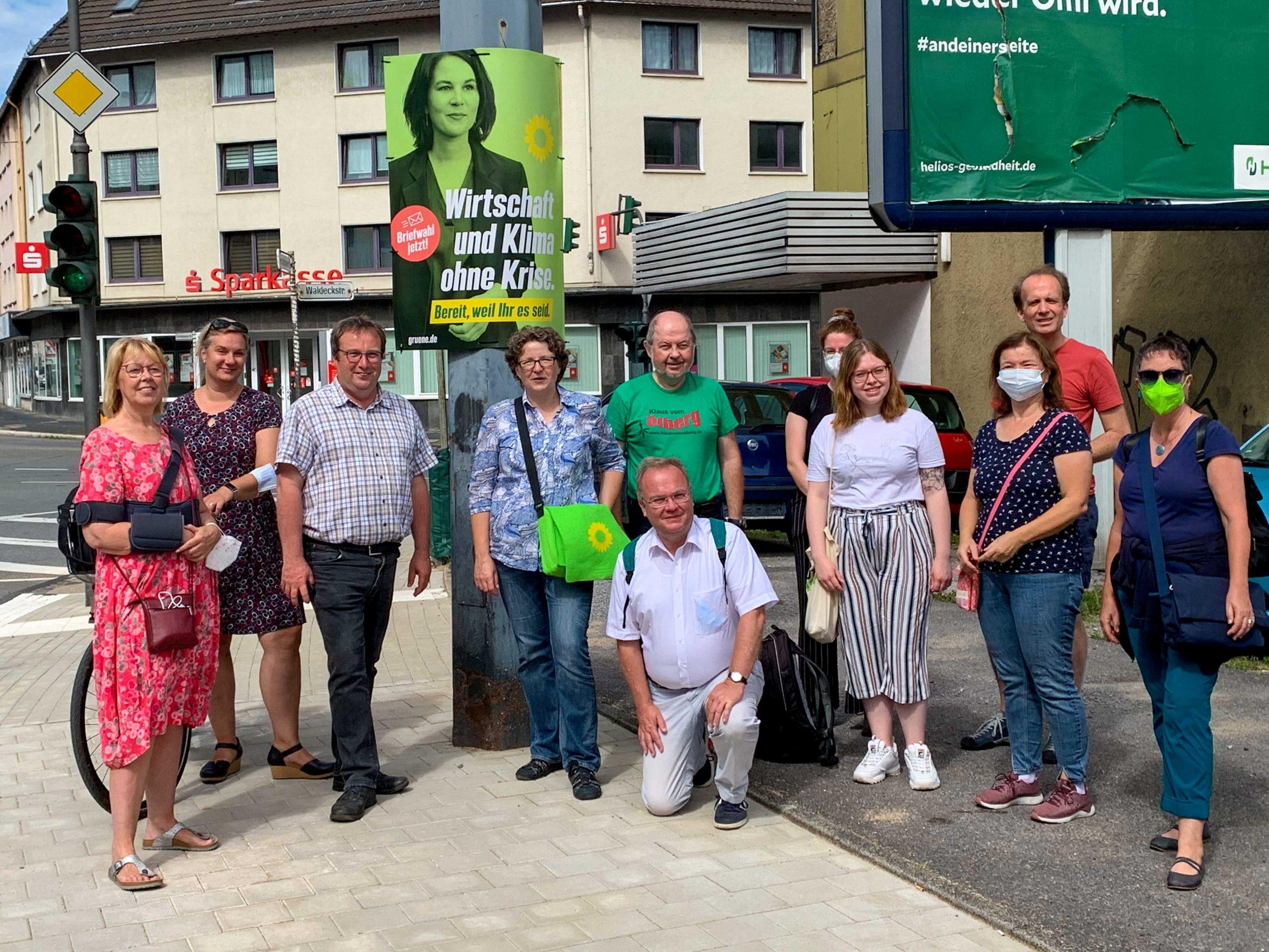 Rundgang in Heckinghausen mit Oliver Krischer, MdB und Anja Liebert